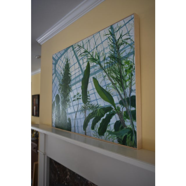 """Canvas """"Greenhouse in Winter"""" Contemporary Painting by Stephen Remick For Sale - Image 7 of 11"""
