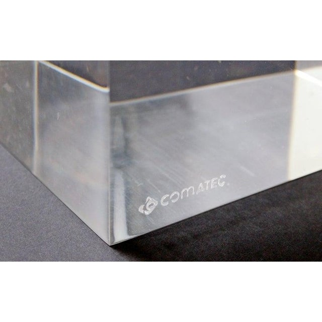 Mid-Century Modern Lucite Glass Coffee Table by Karl Springer Comatec, France 1970s For Sale In Detroit - Image 6 of 10