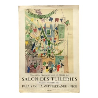 Original Mid-Century Raoul Dufy Mourlot Art Poster, Extended Date For Sale