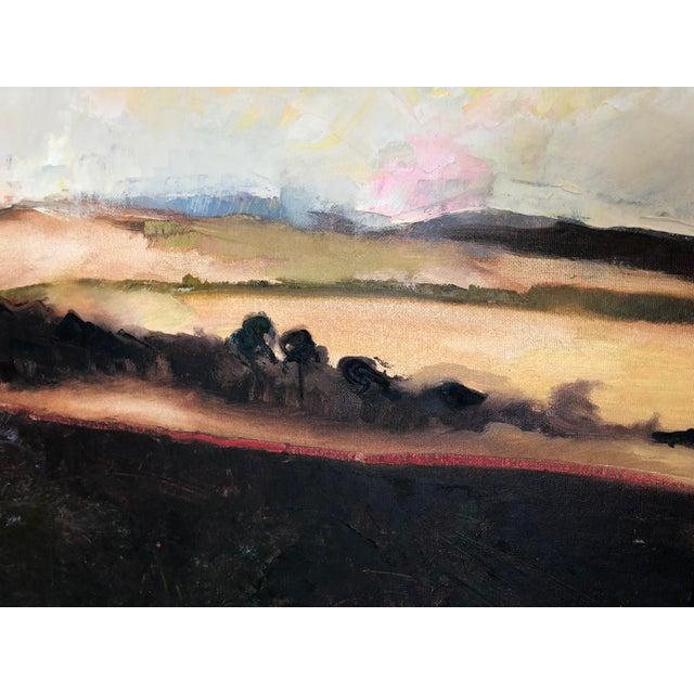 Impressionism Black Framed Landscape Painting For Sale - Image 3 of 4