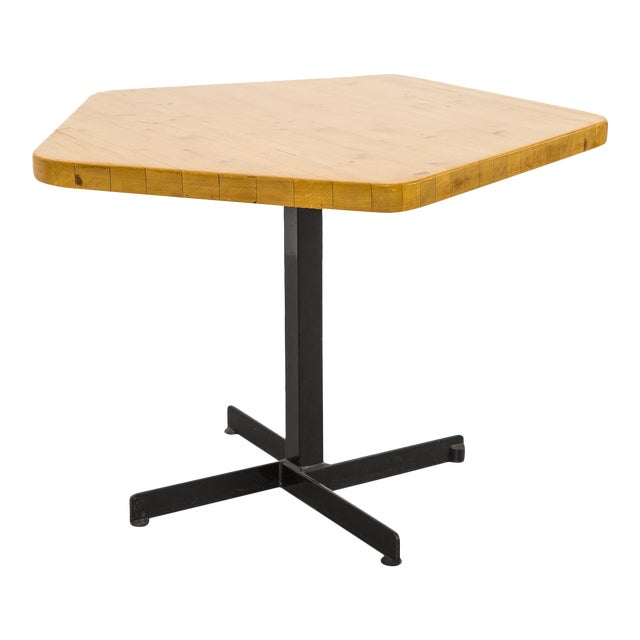 Les Arcs Pentagonal Table by Charlotte Perriand For Sale