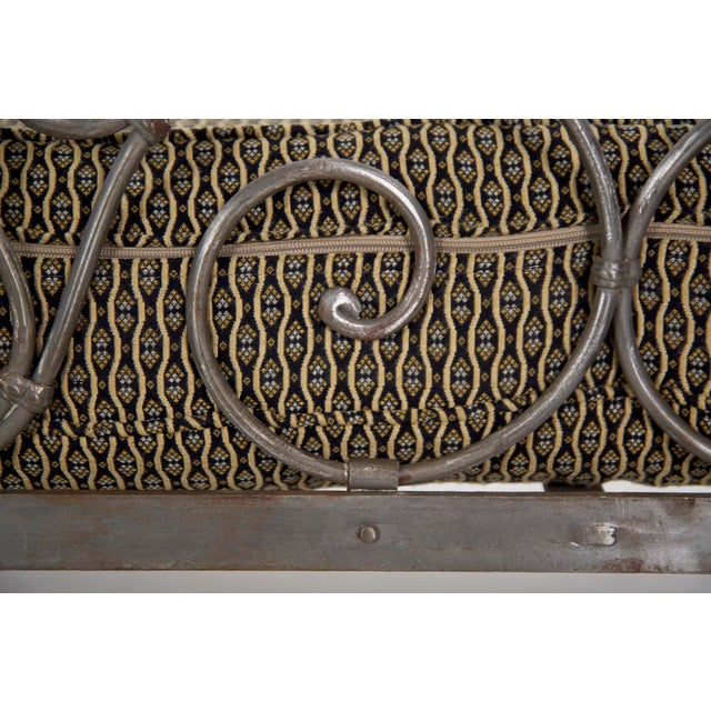 Antique French Wrought Iron Campaign Style Daybed Sofa For Sale - Image 12 of 13