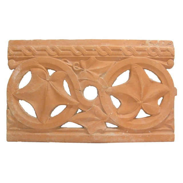 Art Deco Antique French Terracotta Architectural Element For Sale - Image 3 of 4