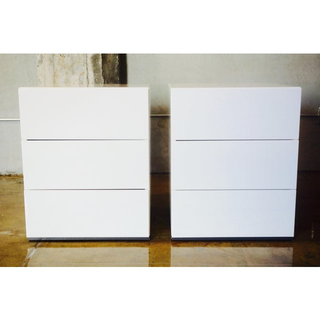 Brix 3-Drawer Bedside Table by Niels Bendtsen - Pair - Image 2 of 9