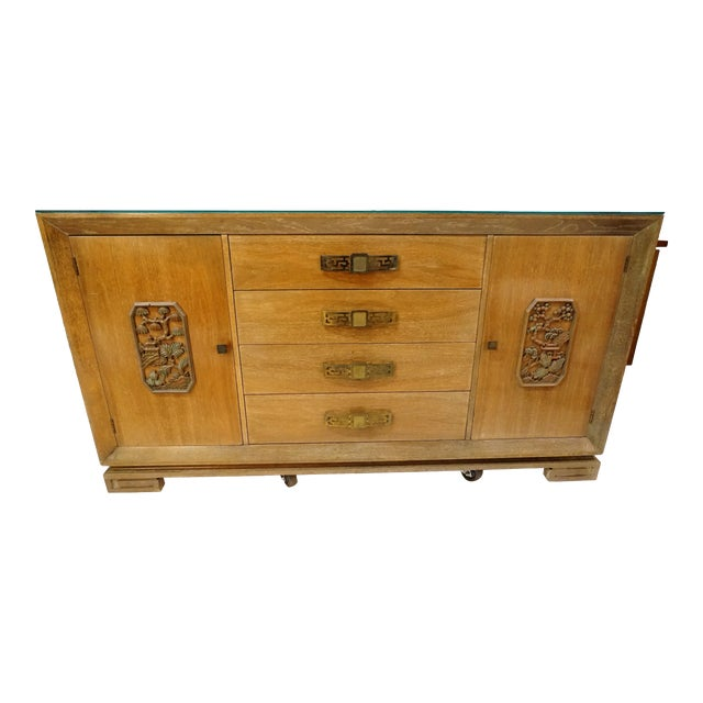 James Mont Style Asian Mid-Century Modern Sideboard For Sale
