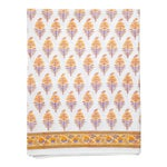 Juhi Flower Fitted Sheet, Queen - Yellow
