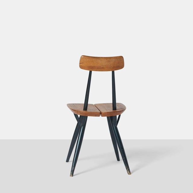 """Pirkka"" Sculptural Pine and Black Lacquer Chairs by Ilmari Tapiovaara - Set of 6 For Sale In San Francisco - Image 6 of 11"