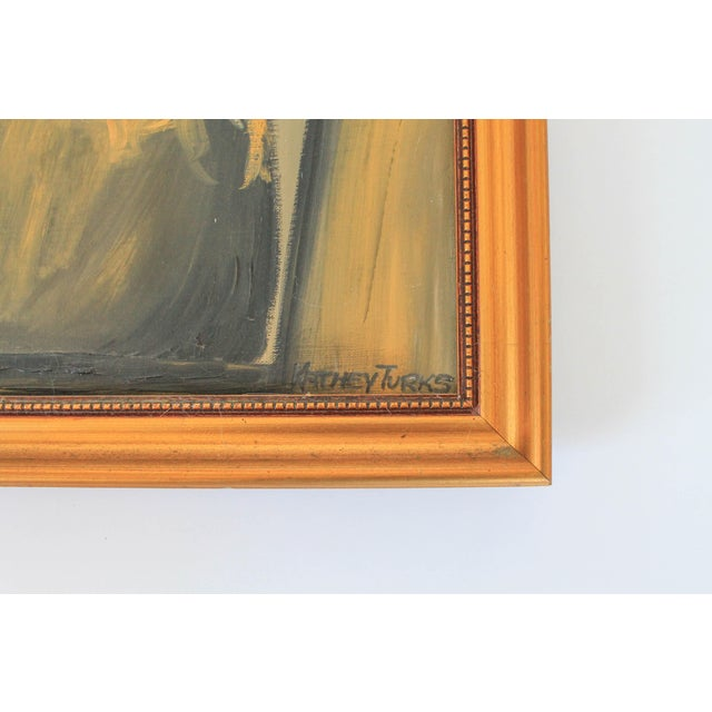 Mid 20th Century Female Portrait Painting For Sale - Image 5 of 9