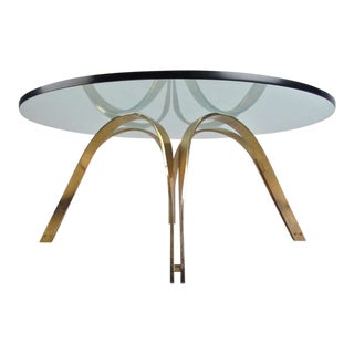 Mid-Century Modern Brass Coffee Table After Roger Sprunger for Dunbar For Sale