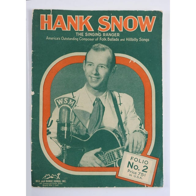 1951 Hank Snow Music Folio For Sale - Image 5 of 5