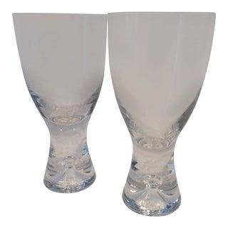 Iittala Tapio Hand Blown Crystal White Wine Glasses - Set of 2 For Sale