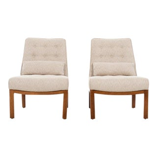 1950s Vintage Edward Wormley Slipper Chairs- A Pair For Sale