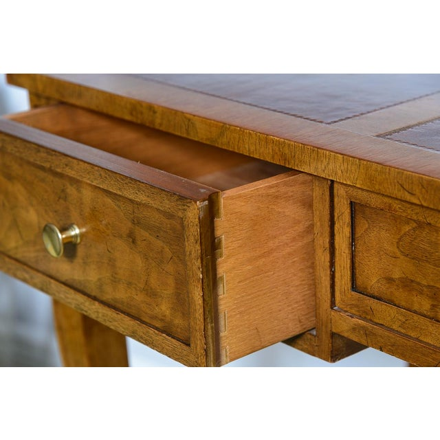 Metal Vintage French Style Brass Gallery Writing Desk by Milling Road for Baker For Sale - Image 7 of 13