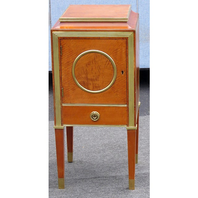 Traditional Pair of Russian Baltic Style Nightstands For Sale - Image 3 of 4