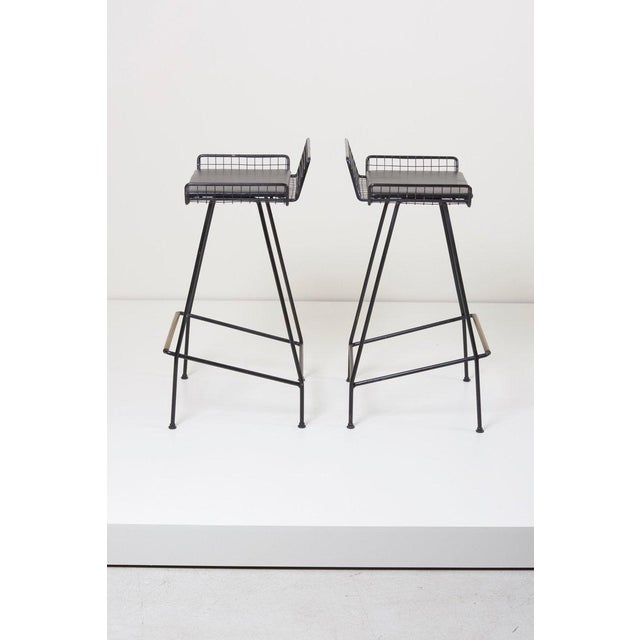 Pair of Tony Paul Iron Bar Stools, 1950s, Usa For Sale - Image 6 of 6