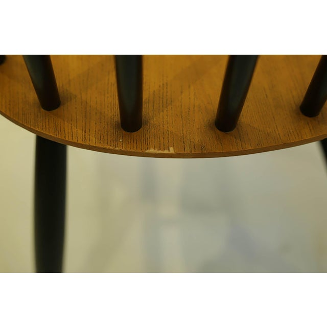 Black Imari Tapiovaara Teak and Black Lacquered Dining Chairs, Circa 1940-1949 - a Pair For Sale - Image 8 of 8