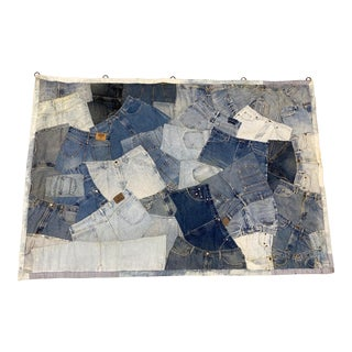 """Large Scale """"Blue Jeans"""" Tapestry For Sale"""