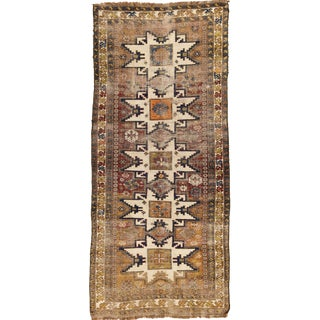 Old Caucasian Shirvan Runner - 3′6″ × 7′11″ For Sale