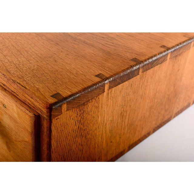 1920s Vintage Oak File Box For Sale - Image 5 of 9