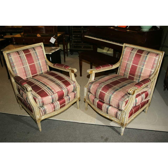 Fabulous French Bergere Chair by Jansen For Sale - Image 12 of 13