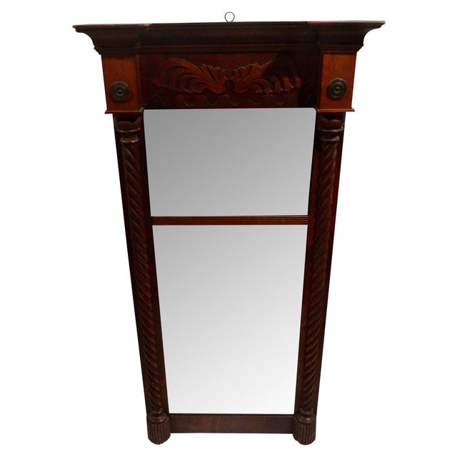 Antique American Federal Mahogany Mirror - Image 1 of 3