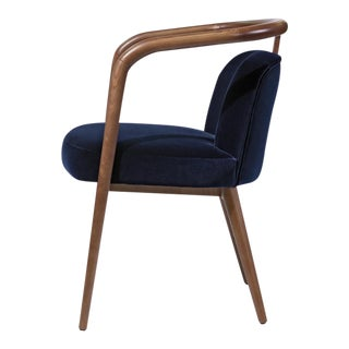 Contemporary Mid Century Style Scandinavian Modern Walnut Chair For Sale