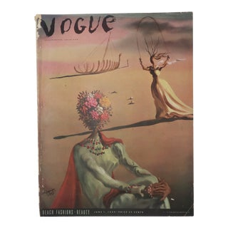 1939 Vogue Magazine With Salvador Dali Cover Art For Sale
