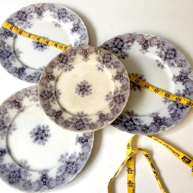 Metal 1900s Wood and Son Keswick Purple Plate Collection - 4 Pieces For Sale - Image 7 of 8