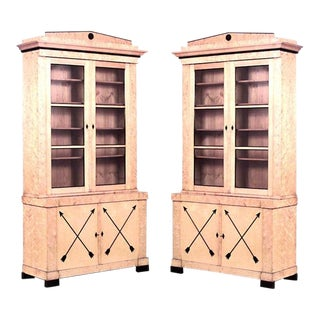 Pair of Swedish Biedermeier Bookcase Cabinets For Sale