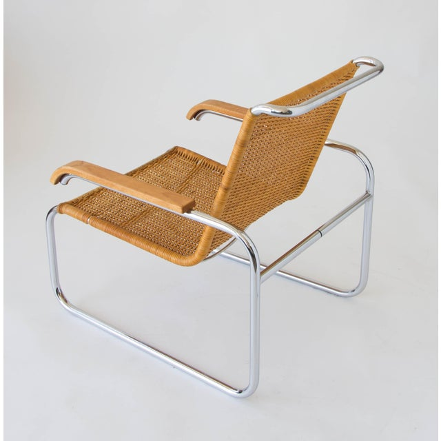 Marcel Breuer for Thonet B35 Rattan Lounge Chair - Image 7 of 7