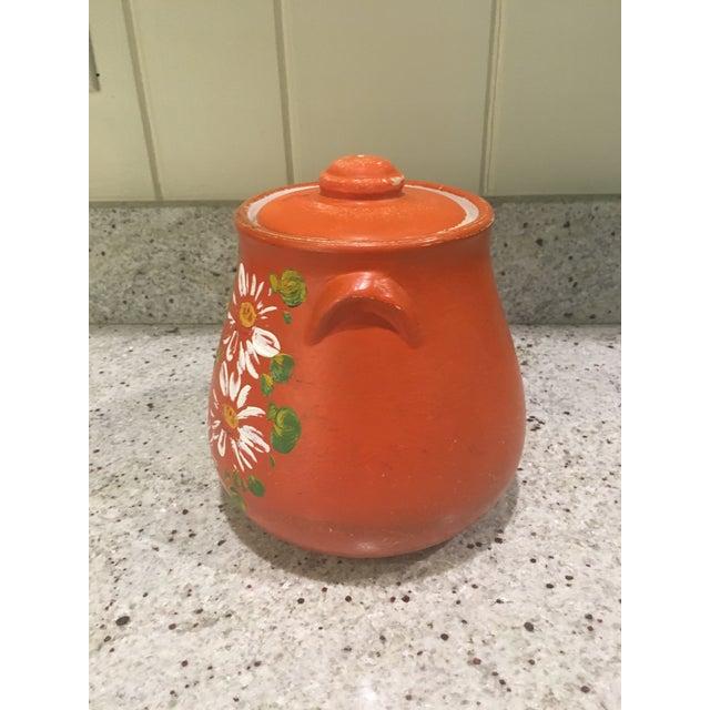 Orange Floral Cookie Jar - Image 3 of 8