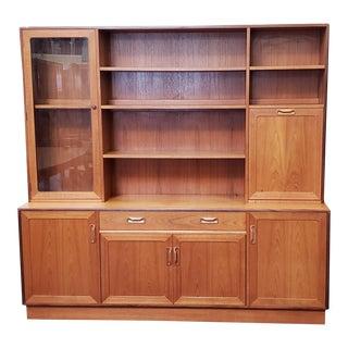 Vintage G-Plan Teak Hutch Bar, Cabinet & Bookcase Unit C.1960s For Sale