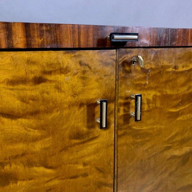 1930s Rootwood & Rosewood Bar Cabinet With Intarsia For Sale - Image 10 of 11