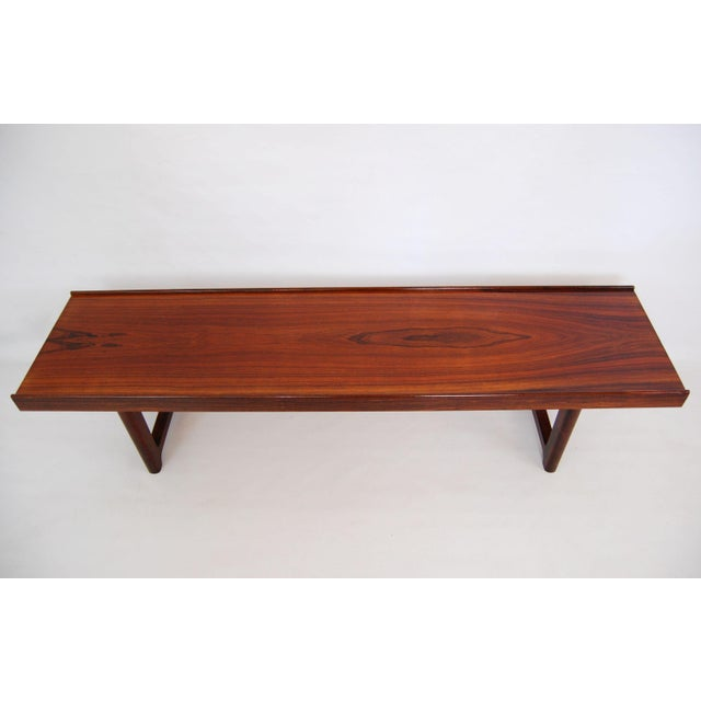 Torbjorn Afdal for Bruksbo Norwegian Krobo Rosewood Coffee Table or Bench - Image 3 of 7