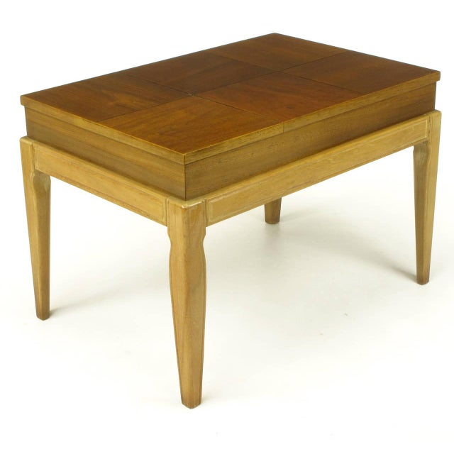"1950s John Van Koert ""Casa Del Sol"" Parquetry Walnut End Table with Opening Top For Sale - Image 5 of 9"