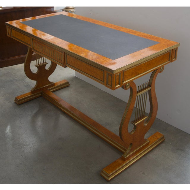 Late 19th Century Late 19 Century Russian Czarist Regency Library Table For Sale - Image 5 of 12
