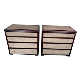 French Modern Shagreen Chests - a Pair For Sale