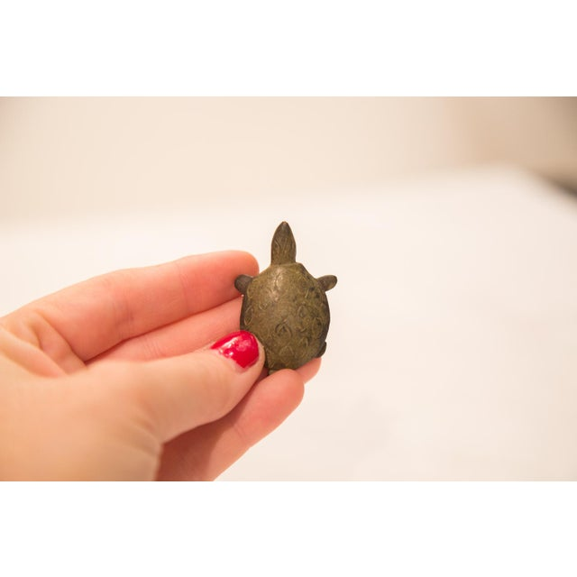 Vintage Spotted Turtle Figurine/ Ashanti Gold Weight For Sale - Image 5 of 5