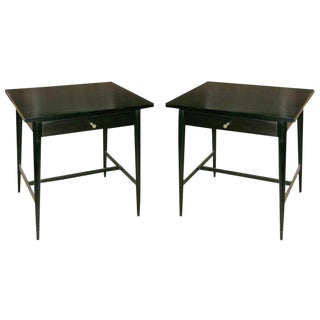 Primeau Lacquered Nightstands - a Pair For Sale