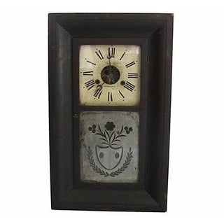 Antique 1845 Eglomise Panel Clock Case