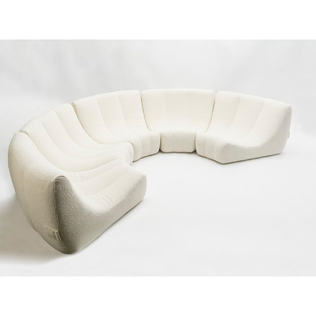 Rare Midcentury Circle Sofa by Michel Ducaroy Model Gilda, 1972 For Sale - Image 11 of 13