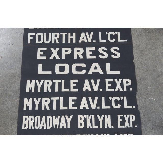 Vintage New York City Subway Scroll - Image 5 of 7