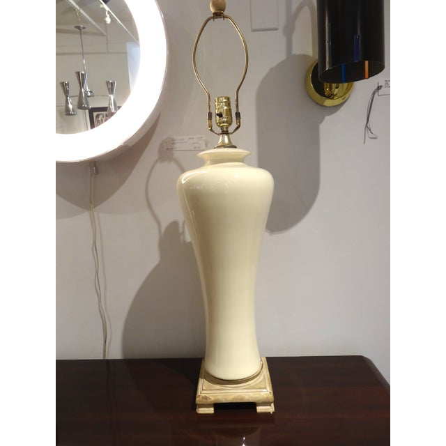 White Ceramic Lamps - A Pair - Image 2 of 5