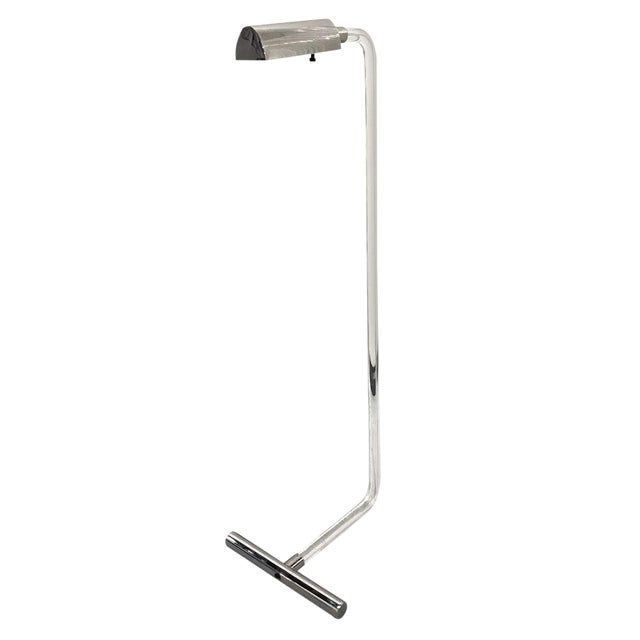 Vintage Lucite and Chrome Floor Reading Lamp For Sale