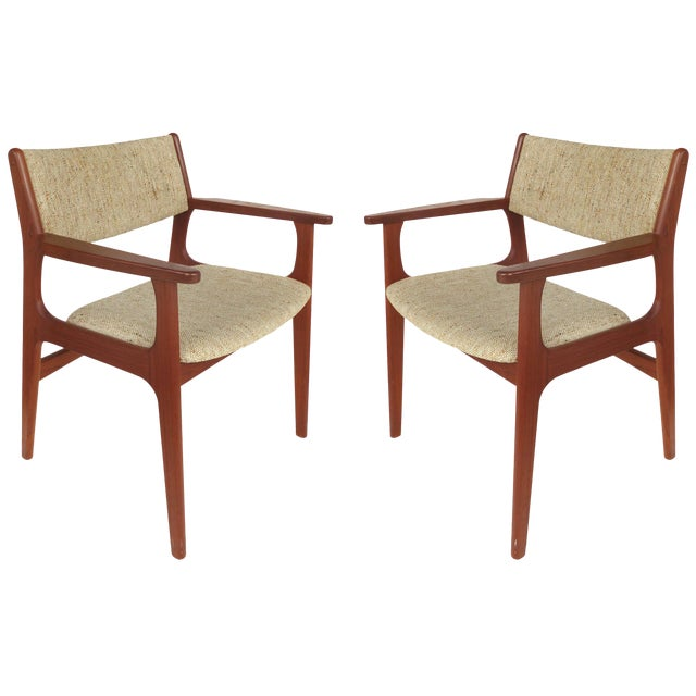 Scandinavian Modern Teak Armchairs - a Pair For Sale