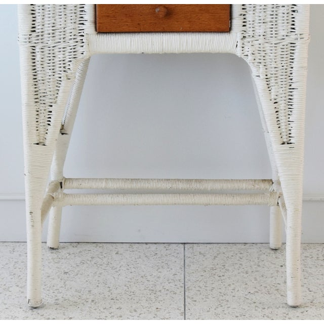 Antique Painted Wicker & Oak Writing Desk Table For Sale - Image 12 of 13
