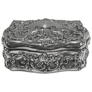 Howard & Co. Sterling Bombe Jewelry Box