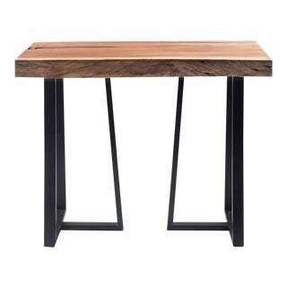 """Industrial Acacia Wood Console Table - 39"""" For Sale"""