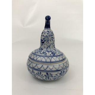 Chinese Blue and White Porcelain Pear Dish With Lid Preview
