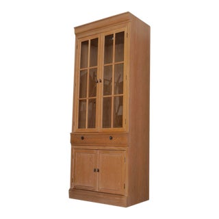 1980s Hollywood Regency Bernhardt Display Cabinet For Sale